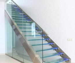 Escaliers en verre - Vitrerie DAVID Sàrl - Yverdon-les-Bains